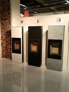 Contura at ISH 2015. The stoves in the Contura 35 (high) series. Available in White or black steel or natural soapstone.
