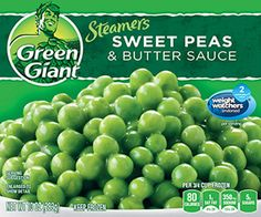 Green Giant® Steamers Sweet Peas & Butter Sauce 10 oz. Box--a great accompaniment to the Healthy Choice meals!