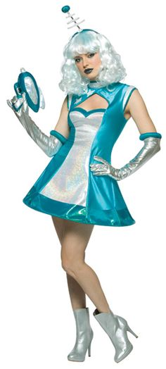 Adult Martian Space Girl Costume