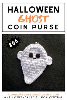 Today I am sharing my free Halloween Ghost Coin Purse Pattern. This pattern also makes an adorable ragdoll ghost! Boo Halloween, Halloween Costumes For Kids, Halloween Crafts, Holiday Crafts, Halloween Ideas, Coin Purse Pattern, Purse Patterns, Heart Patterns, Crochet Gifts