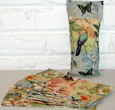 Eye Pillow Cover with Birds Of A Feather Design on a by BeachDawn, $6.00
