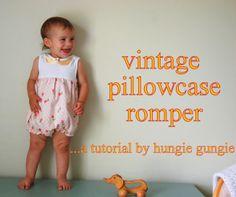 vintage pillowcase romper