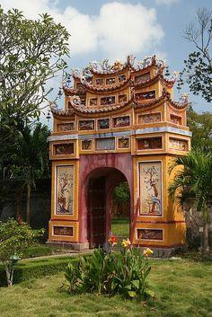 Archway in Hue, Vietnam.