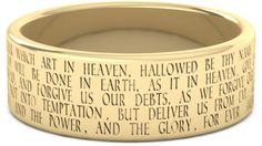 """ApplesofGold.com - """"Hallowed Be Thy Name"""" Lord's Prayer Ring in 14K Gold Jewelry $675.00"""
