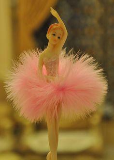 Ballerina Shaped Resin Music Box Figurine