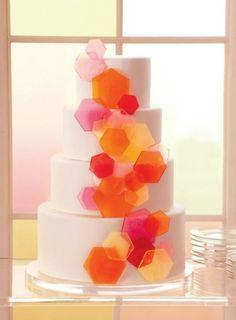 21 Gorgeous Geometric Cakes for Your Modern Wedding via Brit + Co.