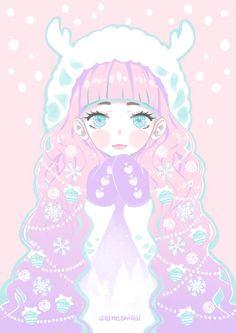 "ayameshiroi: "" Merry Pastel Holidays °˖ ✧◝(○ ヮ ○)◜✧˖ ° """