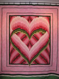 """Molly brought me this gorgeous Bargello Quilt top she made. The Pattern is called """"Melindas Heart"""" by Heidi K. Farmer. To decide what ..."""