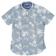 Ben Sherman Rose Print Button-front Shirt
