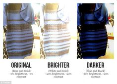 Photo trickery? One of the many graphics made in response to the dress claims to explains ...