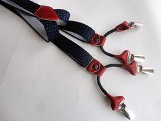F-blue Elastiche di Y-Shape Bretelle delle Donne degli Uomini Ragazze Regolabile Clip-on Bretelle Cinghie