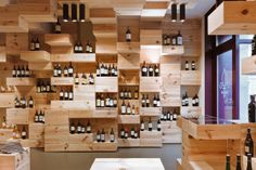 Really awesome liquor display for a home bar...                              …
