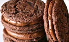 Chocolate Malt Sandwich Cookies -- try cookie in homemade oreo recipe as an alternative to cake mix version Food: Dessert: Cookies & Bars (CTS) Yummy Cookies, Yummy Treats, Sweet Treats, Chocolate Malt, Chocolate Desserts, Chocolate Cookies, Just Desserts, Delicious Desserts, Yummy Food