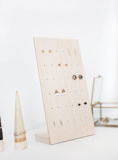 DIY Earring Stand -