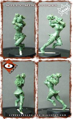 Miniature of Amazon Team for Willy miniatures by ªRU-MOR