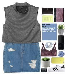 """boy my dm popping."" by annamari-a ❤ liked on Polyvore featuring mode, Monki, adidas Originals, Dolce&Gabbana, Lux-Art Silks, NARS Cosmetics, The Body Shop, CASSETTE, Prada en TalisLittleTag"