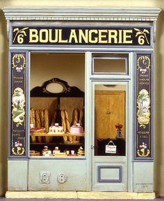 Boulangerie, Musée de la Poupée-Paris collection of contemporary doll houses belonging to Madame Ingeborg Riesser
