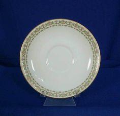 Charles Ahrenfeldt Limoges France AHR350 Pattern White Saucer rgs0006 #CharlesAhrenfeldt