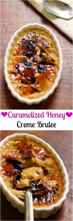 Caramelized honey creme brulee is the most decadent of Valentine's worthy desserts!