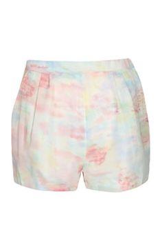 Bella Pastel Spray Chiffon Shorts