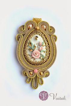Soutache Jewelry. Artystyczna Biżuteria Autorska Katarzyna Wojtak: #0059 Marianna. Wisior Sutasz.