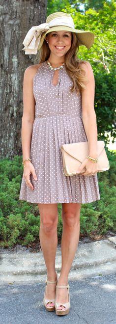 such a cute polka dot dress! @J's Everyday Fashion