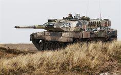 Herunterladen hintergrundbild tank, leopard 2a5, deutsche panzer, moderne gepanzerte fahrzeuge, dänische armee