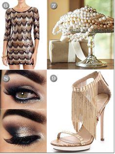 Flapper New Year's attire and fashion accessories