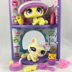 Littlest Pet Shop Pair of Yellow Kittens #848 & #2775 w/3 Nooks & Accessories #Hasbro