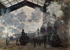 La Gare Saint-Lazare (C Monet - W 441),1877.