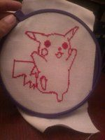 pickachu  cross stich by ririprettyfulls
