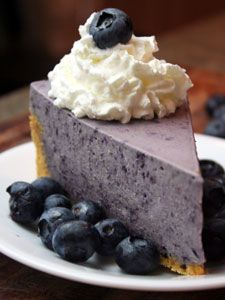 Blueberry Chiffon Pie, another awesome summer pie!!! @Donna DuAime Ward, I bet your hubby would love this!!!
