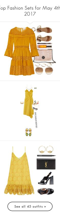 """""""Top Fashion Sets for May 4th, 2017"""" by polyvore ❤ liked on Polyvore featuring Hollister Co., Cinq à Sept, Shiffa, Chloé, GUESS, orange, brown, Victoria Beckham, Dolce&Gabbana and Tiffany & Co."""