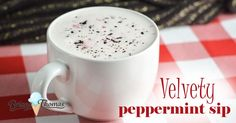 This Velvety Peppermint Sip (similar in style to Bulletproof drinks) is THM: Deep S, low carb, sugar free, gluten/egg free with nut free suggestion