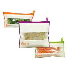 neat-os Reusable Baggies < Back to Foodie  Save Food, Money and the Planet  Striving to replace throwaway plastic baggies, Rachel Ostroy created neat-os to provide people with green, healthy alternatives that function better and deliver great design. These eco-friendly pouches can be used hundreds of times and come in snack, sandwich and gallon sizes. Pack your lunch and save the world!