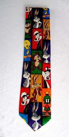 Looney Tunes Neck Tie 1996 Mens Attire Classic Cartoon Ties