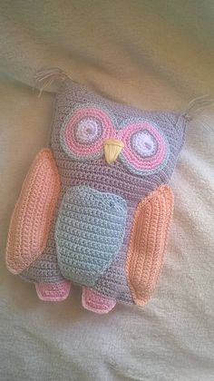 Ragdoll Letty the Owl PDF pattern in English PDF owl pattern Kawaii Crochet, Crochet Owls, Cute Crochet, Crochet Animals, Crochet For Kids, Crochet Baby, Crochet Pillow, Cotton Crochet, Owl Patterns