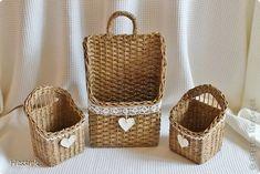 Маленькие корзины сделано на заказ. Цвет - орех фото 4