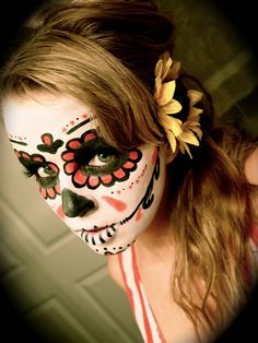 Image result for woman day of the dead makeup