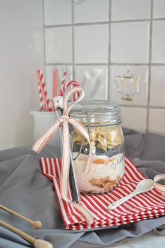 aboutVerena: Backmischung im Glas / Last Minute Christmas Gift #craftsbyverena