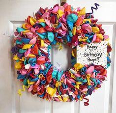 Summer Wreath, 4th Of July Wreath, Birthday Decorations, Birthday Wreaths, Birthday Ideas, Anchor Wreath, Happy 1st Birthdays, Ball Ornaments, Latex Balloons