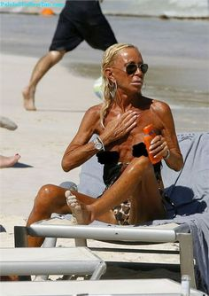 Man a funny sun tanning of pictures