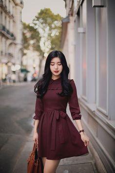 New Fashion Outfits Winter Classy 37 Ideas Korean Fashion Dress, Korean Dress, Asian Fashion, Hijab Fashion, Girl Fashion, Fashion Dresses, Classy Fashion, Ladies Fashion, Womens Fashion