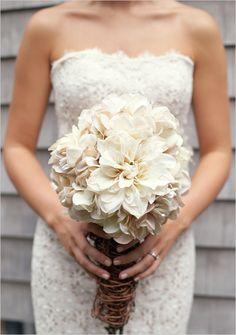 Diy Hydrangea And Mum Bouquet. Captured By: Jaimee Morse ---> http://www.weddingchicks.com/2014/05/27/rustic-wedding-must-haves/