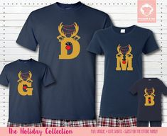 Our Family Christmas Pajamas are everything good about the holidays - reindeer, metallic, and personalization. Get these Reindeer Letter Pajamas customized and in short sleeves #matchingchristmaspajamas #christmaspajamas #familychristmaspajamas #polarexpresspajamas #christmas #holidaypajamas #christmasgift #christmasphotoideas #pajamas #personalizedpajamas #christmas2020 #christmas #pressed4fun #p4f #fununiquecute #holidaypartyoutfit #holidaygift #holidaypartyideas #holidayparty Matching Christmas Pajamas, Family Christmas Pajamas, Holiday Pajamas, Matching Pajamas, Matching Shirts, Christmas Shirts, Easter Pajamas, Cute Pajamas, Holiday Party Outfit