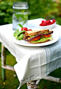 eggplant bacon with the best avocado mayo ever