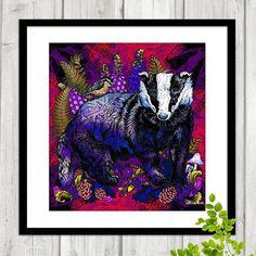 New Badger Art Prints available in my Etsy Store! (Not yet on the website, but I'm working on it!)  www.etsy.com/shop/BeccaWhoDesigns  🌾🌿🍁  #myartwork #inkdrawing #digitalpainting #badger #ink #drawing #print #artprint #instaart #decor #home #originalart #wallart #beccawho #beautiful #nature #love #british #wildlife #happy #arts_help #creative #colourful #bird #flowers #pretty #naturelovers #wildlifelovers #woodland #animals