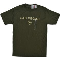 """An attractive Converse tee with """"Las Vegas"""" graphic wording on front and Connie  star logo."""