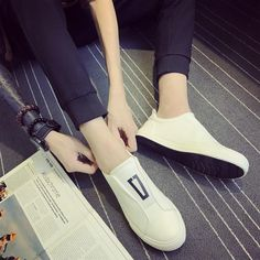 Summer Casual Leather Loafers Shoes for Men Leisure Breathable Flat Slip on Shoes Solid Driving Shoes Outfit Accessories From Touchy Style Leather Shoes Brand, Leather Loafer Shoes, Black Leather Shoes, Pu Leather, Up Shoes, Shoes With Jeans, Slip On Shoes, Flat Shoes, Casual Sneakers