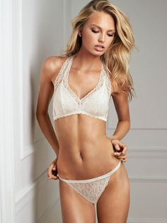 """modelmylove: """" Romee, white, and all over lace love. """""""